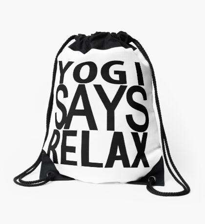 YOGI SAYS RELAX Drawstring Bag