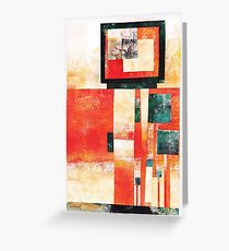Forest Squared - Collage  Greeting Card