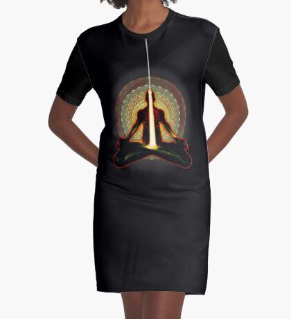 receiving light (meditator) Graphic T-Shirt Dress
