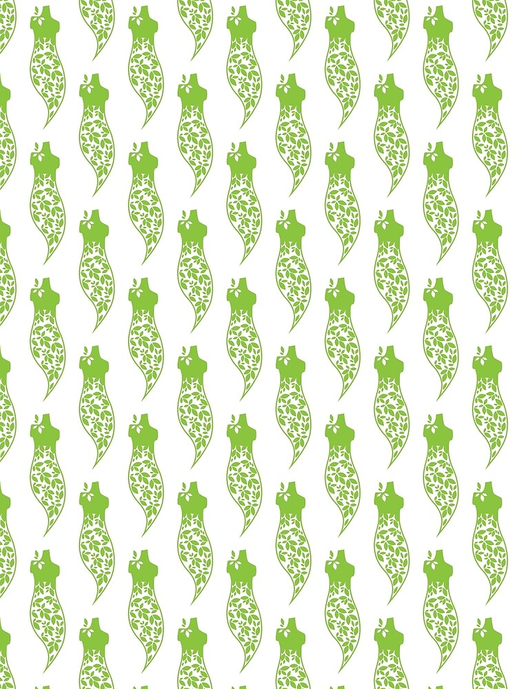 Green dress print by Keywebco