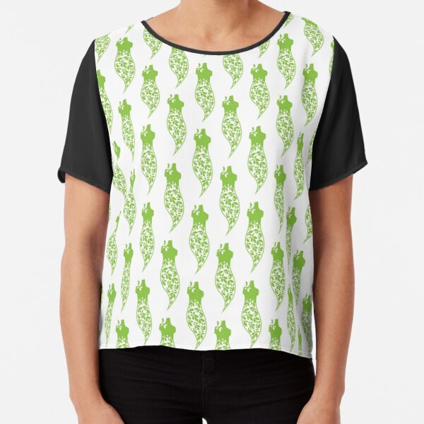 Green dress print Chiffon Top