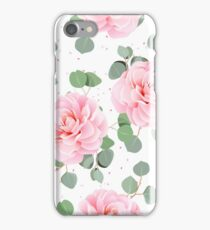 Sweet Flowers Pattern Background Colours iPhone Case/Skin