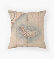 Iceland 1767 Throw Pillow