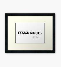 human rights, America - jimmy carter Framed Print