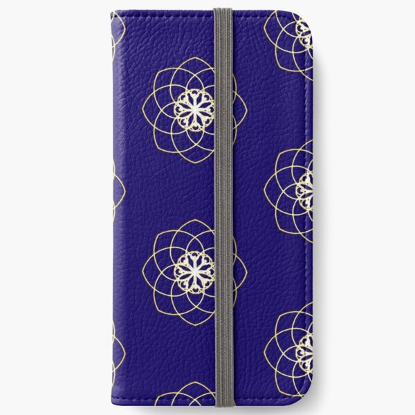 Many hearts, Much Joy! - Gold Phi Spiral iPhone Wallet