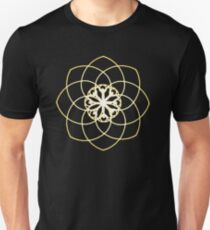 Many hearts, Much Joy! - Gold Phi Spiral Unisex T-Shirt