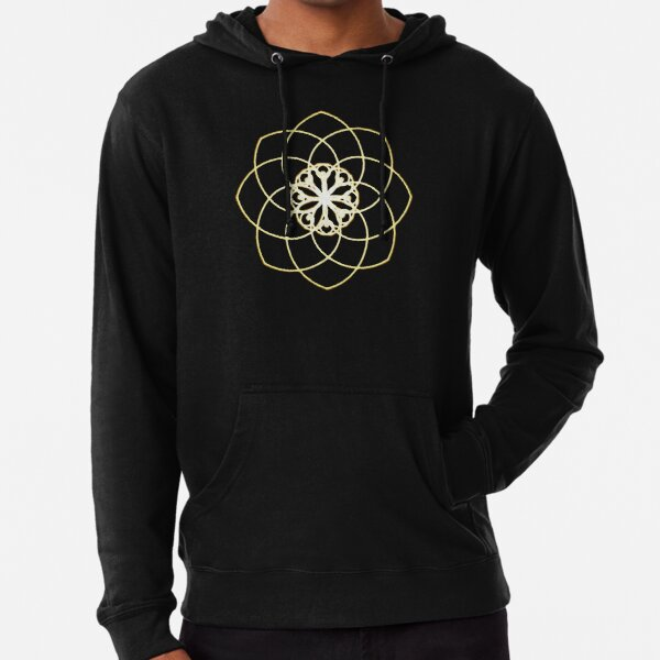 Many hearts, Much Joy! - Gold Phi Spiral Lightweight Hoodie