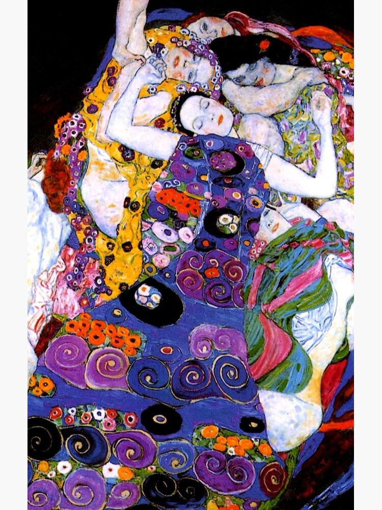 Die Jungfrau von Gustav Klimt Fine Art von GalleryGreats