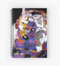 The Virgin by Gustav Klimt Fine Art  Spiral Notebook