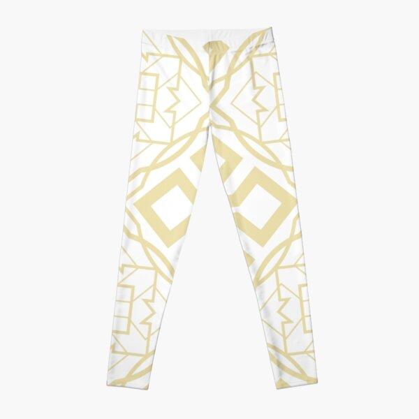 Pale Gold Fretwork Leggings
