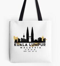 KUALA LUMPUR MALAYSIA SILHOUETTE SKYLINE MAP ART  Tote Bag