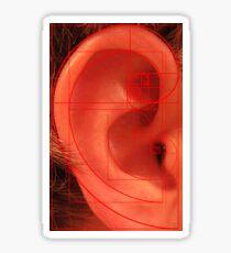 Phi, Ear and Spirals Sticker