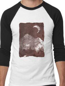 Winter Finds the Bear... Men's Baseball ¾ T-Shirt