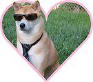Doggo Stickers: Serious Shibe by Elisecv