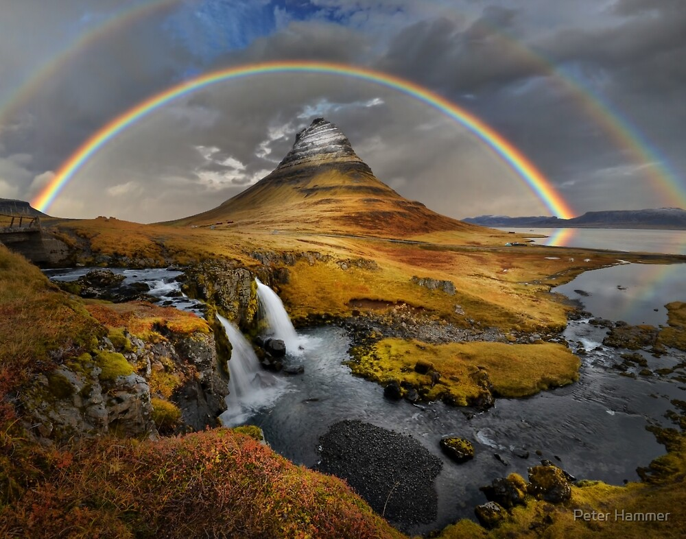 Rainbow over Kirkjufell by Peter Hammer