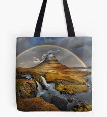 Rainbow over Kirkjufell Tote Bag