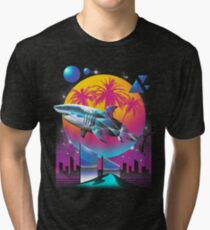 Camiseta de tejido mixto Rad Shark