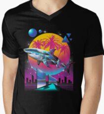 Camiseta para hombre de cuello en v Rad Shark