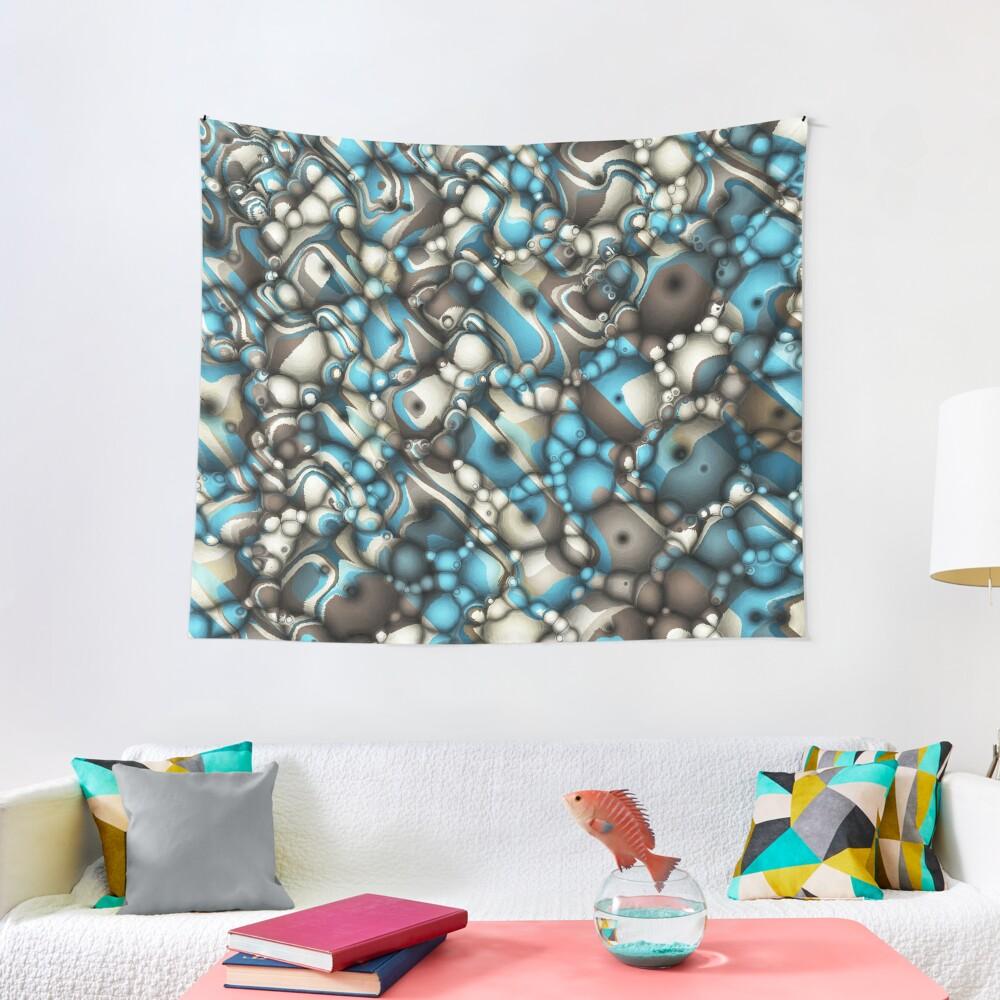 Macro Shapes Abstract Tapestry