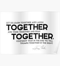Póster juntos, juntos - Jimmy Carter