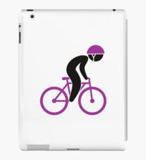 A racing cyclist on his bike iPad Case/Skin