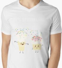 It's Sprinkling Out There Funny Kawaii Emoji Emoticon Ice Cream Cone Cupcake Graphic Tee Shirt T-Shirt