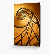 Fibonacci spiral in Arc de Triomphe Greeting Card