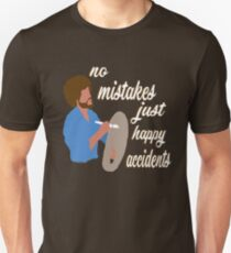 Bob Ross Happy Accidents Unisex T-Shirt