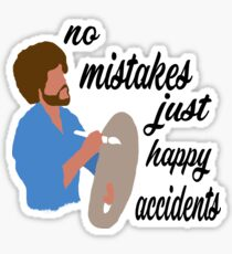 Bob Ross Happy Accidents Sticker