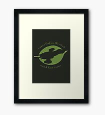 Firefly - Leaf on the Wind Framed Print