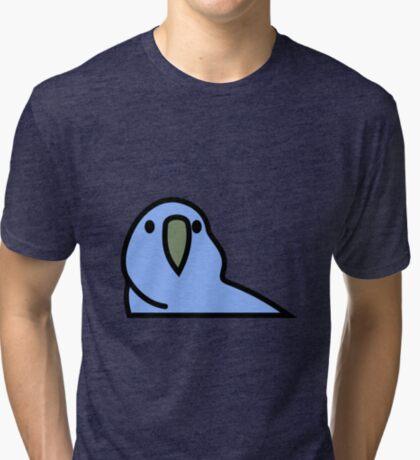 PartyParrot - Dark Blue Tri-blend T-Shirt