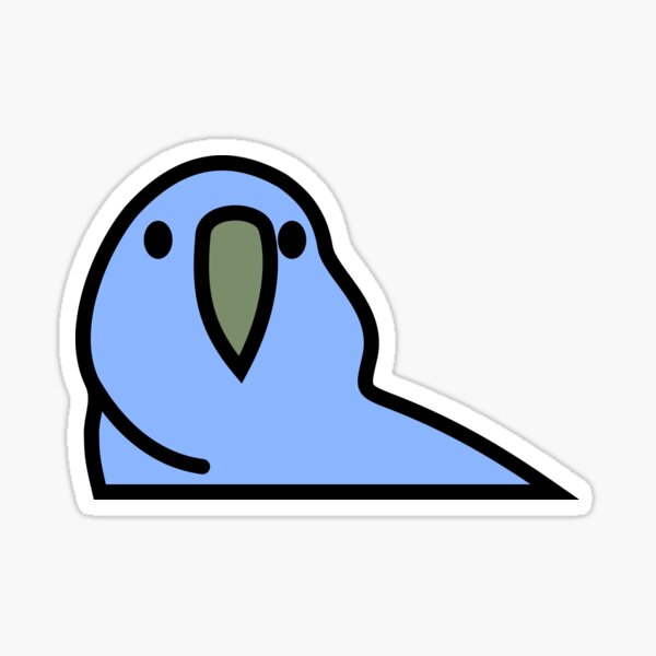PartyParrot - Dark Blue Sticker