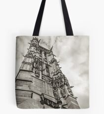 Gothic tower against the sky Tote Bag
