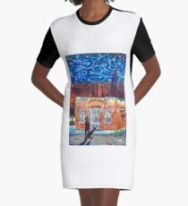 'The Thirsty Beaver Saloon' Graphic T-Shirt Dress
