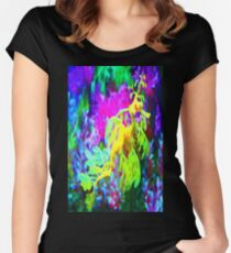 seahorse coral reef animal abstract Women's Fitted Scoop T-Shirt