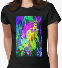 seahorse coral reef animal abstract Women's Fitted T-Shirt