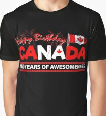 Happy Birthday Canada 150 Years Of Awesomeness Graphic T-Shirt