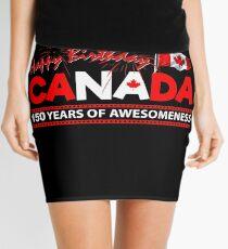 Happy Birthday Canada 150 Years Of Awesomeness Mini Skirt