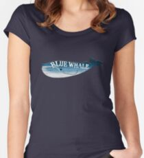 A Blue Whale Casts Dark Shadows Women's Fitted Scoop T-Shirt