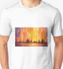 Sunrise- Chicago, IL watercolor painting T-Shirt