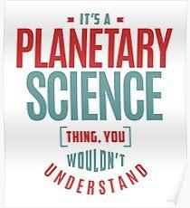 Planetarische Wissenschaft Sache Poster
