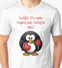 Pinguin: Willst Du mein Valentins-Schatz sein? T-Shirt