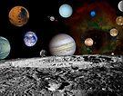 Montage der Planeten und Jupitermonde. von StocktrekImages