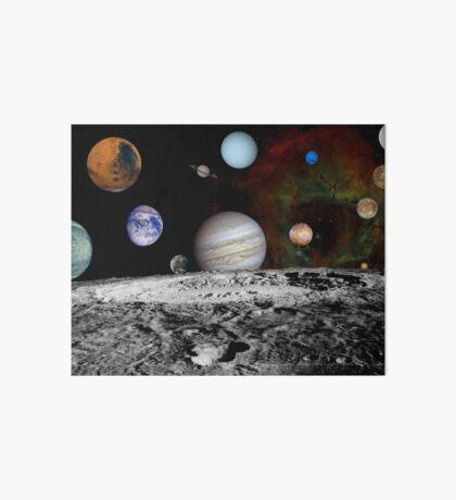 Montage der Planeten und Jupitermonde. Galeriedruck