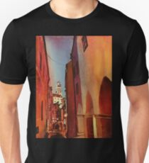 Castle in Cesky Krumlov- watercolor painting T-Shirt
