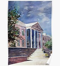 Watercolor painting of Cary, NC Arts Center Poster