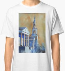 Watercolor painting of church in Cary, NC Classic T-Shirt