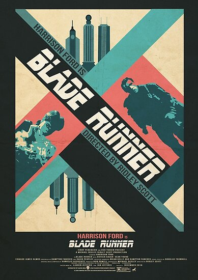 Ridley Scott's Blade Runner Film Poster by LJefferis78