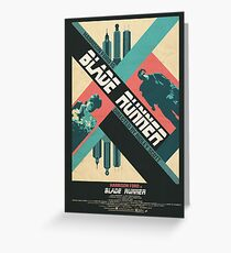 Ridley Scott's Blade Runner Film Poster Greeting Card
