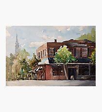 Plein air painting of Cary, North Carolina (USA) Photographic Print